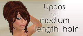 Up-dos for medium length hair