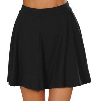Plain Flip Skirt #ice