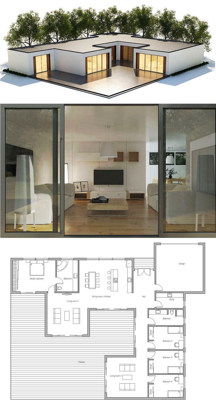 Best 25 Contemporary House Plans Ideas On Pinterest