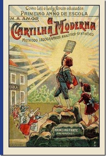"""""""A Cartilha Moderna"""" editada em 1910"""
