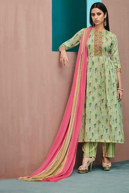 70ca5b1e2a Jay Vijay Ruhaniyat Pashmina Digital Print With Embroidery Suit 4248 ...