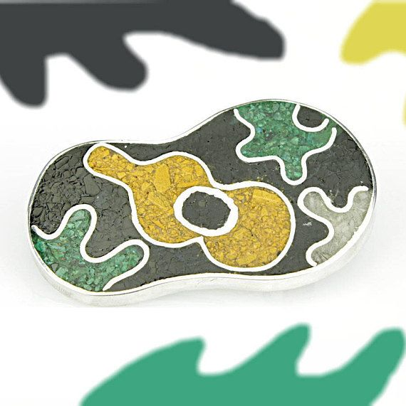 Abstract broochGeometric broochModern broochcontemporary broochcolourful broochbrooch x Christmas giftunisex brooch950minimal brooch by JewelleryAsArt now at http://ift.tt/2mrI7yJ