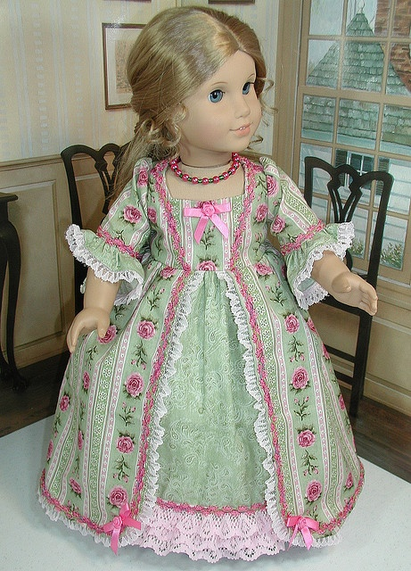 So very feminine!!, via Flickr. Dress made by Marcots Girls