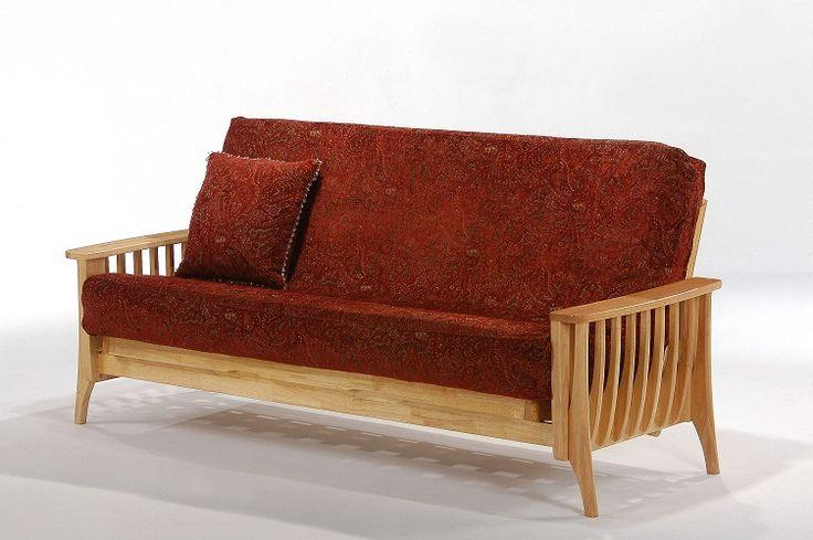 Futon Store | Futon Red Sofa With Pillows