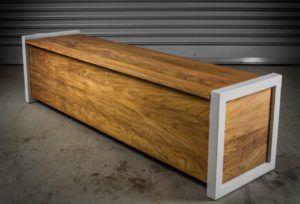 Contemporary Outdoor Storage Bench