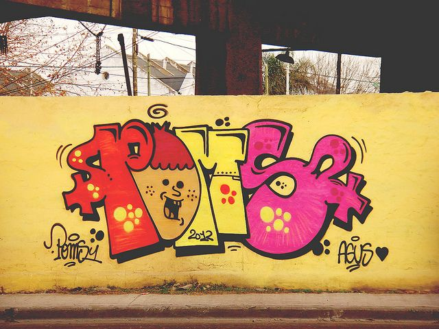 poms graffiti