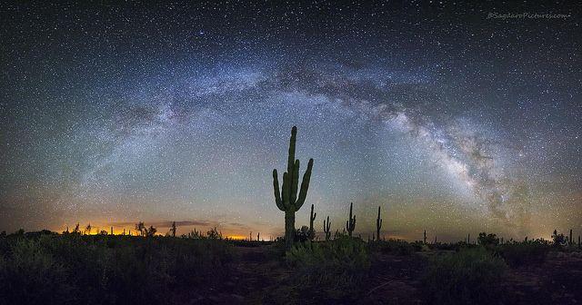 Star gazing in the desert