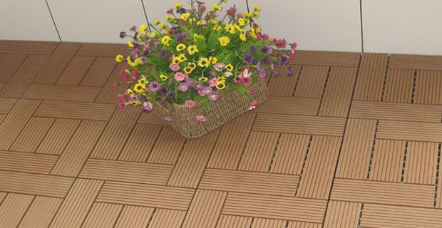 Diy-Wood-Plastic-Composite-(Wpc)--Tile-With-Use-Widely Wood plastic composite decking is mainly used in wall panels, decorative panels, building templates, highway noise separator, railway sleepers, pallet combination with packaging ...