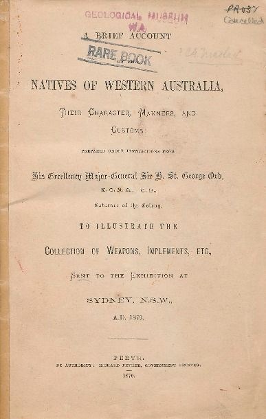 A brief account of the natives of Western Australia, 1879.    http://encore.slwa.wa.gov.au/iii/encore/record/C__Rb1342731__So01850__Orightresult__U__X3?lang=eng&suite=def
