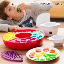 The market revolution that is captivating children and adults has arrived - the Yummy Gummy Wine Gums-making Machine! Perfect solution for making healthy and homemade wine gums without preservatives and colourings.