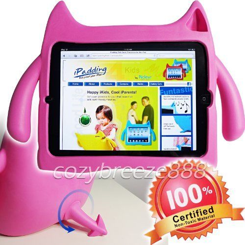 Ndevr iPadding Gremlin Apple iPad 2/3/4 Kids Play Case in Pink (Lightweight, Kid Safe EVA Foam, Shock Absorbing, Free Standing, Sound Booster) by Ndevr, http://www.amazon.ca/dp/B00B4NCWI0/ref=cm_sw_r_pi_dp_fJ-Msb1F9C7VS