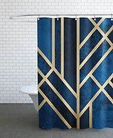 Art Deco Midnight - Elisabeth Fredriksson - Rideau de douche