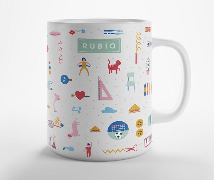Taza RUBIO con diseño exclusivo. Ideal para desayunar, tomar café, coger energía de buena mañana, hacerte un té o incluso para guardar tus lápices.