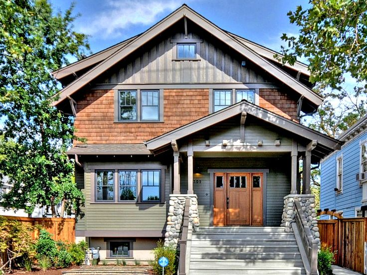 Best Bungalow Homes Images On Pinterest Craftsman Bungalows - Craftsman home rehabilitation in houston