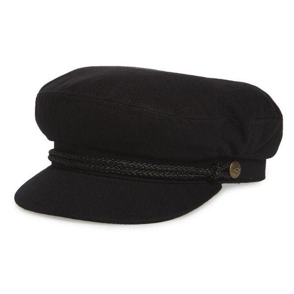 Women's Brixton Fiddler Cap (135 PEN) ❤ liked on Polyvore featuring accessories, hats, black, cap hats, brixton, crown cap hat, crown cap and brixton hats