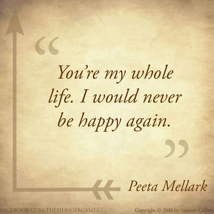 Peetah says this to Katness