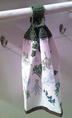 Crocheted Towel Topper Pattern