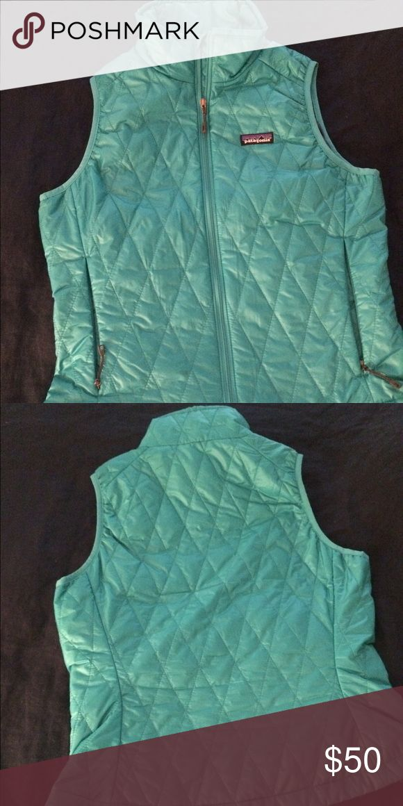 Patagonia vest Turquoise Patagonia puffer vest. Not bulky but very warm. Patagonia Jackets & Coats Vests
