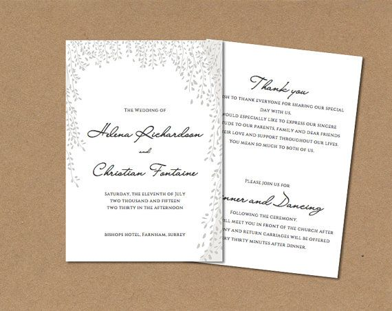 The 25+ best Order of service template ideas on Pinterest - memorial service template word
