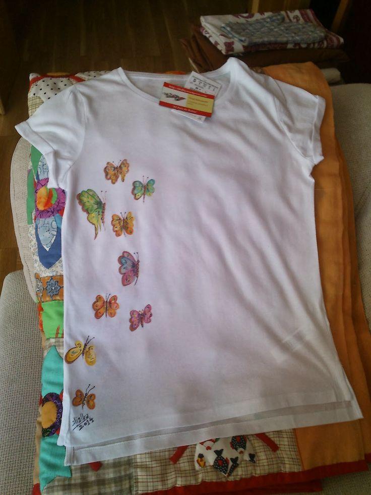 El pa s de babia como pintar mariposas en una camiseta - Pintura para camisetas ...