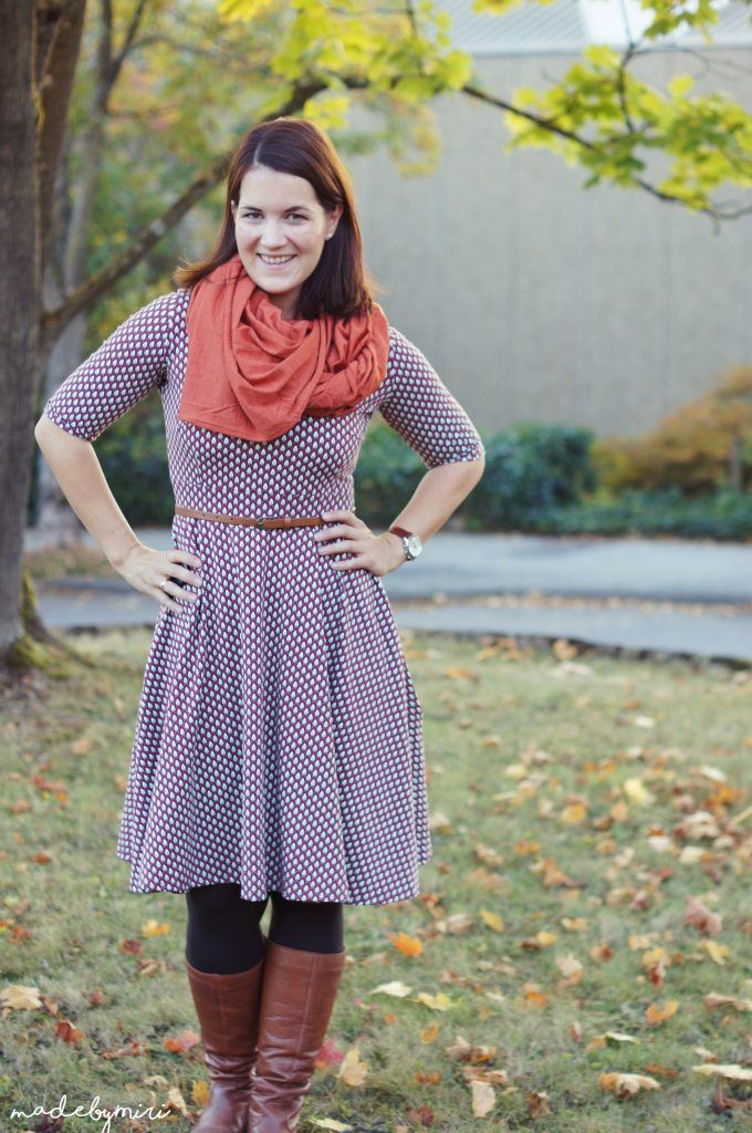 Mein Herbstoutfit: Kleid Zoe – madebymiri