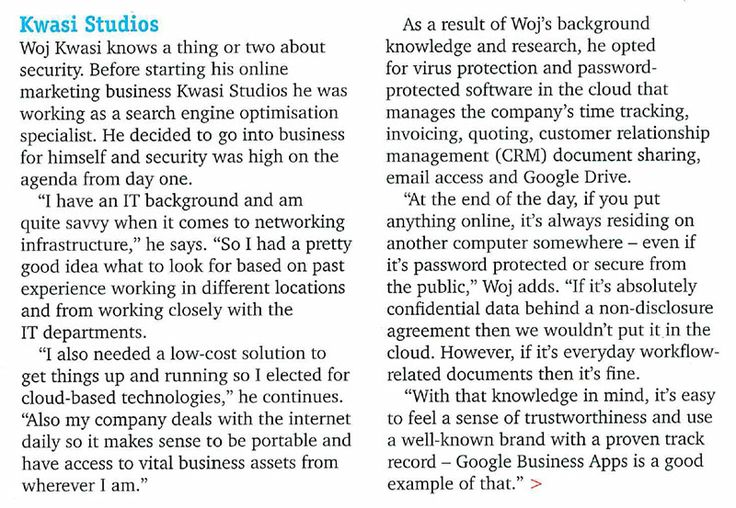 """Security for small business"" article in NETT Magazine, October 2013."