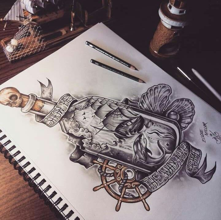 37 best images about pirate theme tattoos on pinterest compass tattoo octopus tattoos and. Black Bedroom Furniture Sets. Home Design Ideas