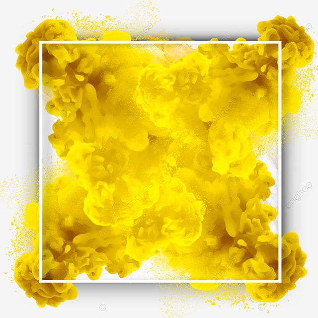 Yellow Abstract Smoke Frame Border Smoke Abstract Text Png Transparent Clipart Image And Psd File For Free Download Flower Frame Abstract Wedding Frames
