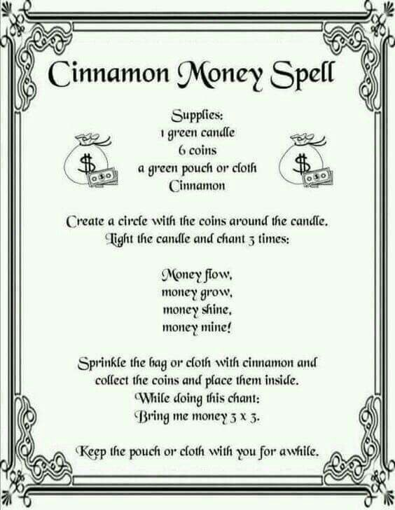 Money Spell  - Pinned by The Mystic's Emporium on Etsy