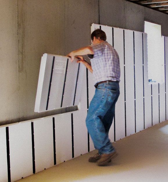 Insofast Makes Finishing A Concrete Wall A Diy Project