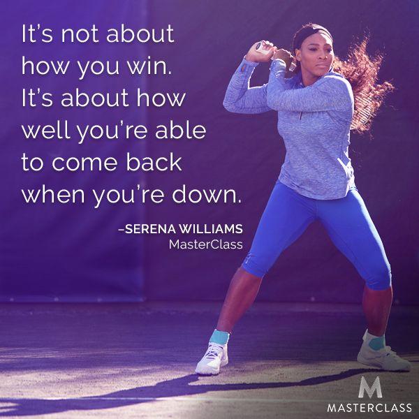 Serena Williams Teaches Tennis at Master Class
