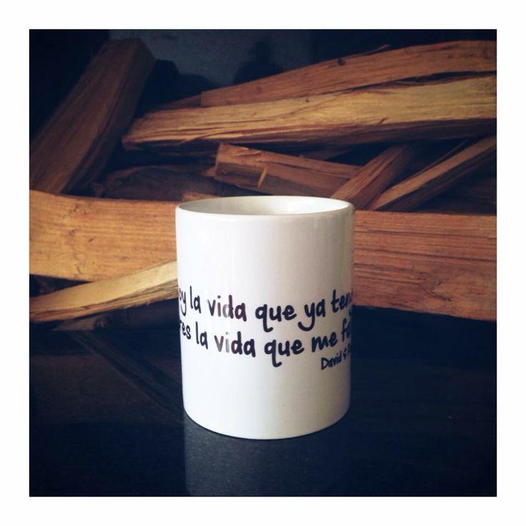 Yo soy la vida que ya tengo, tú eres la vida que me falta!  Mug Personalizado ☕️