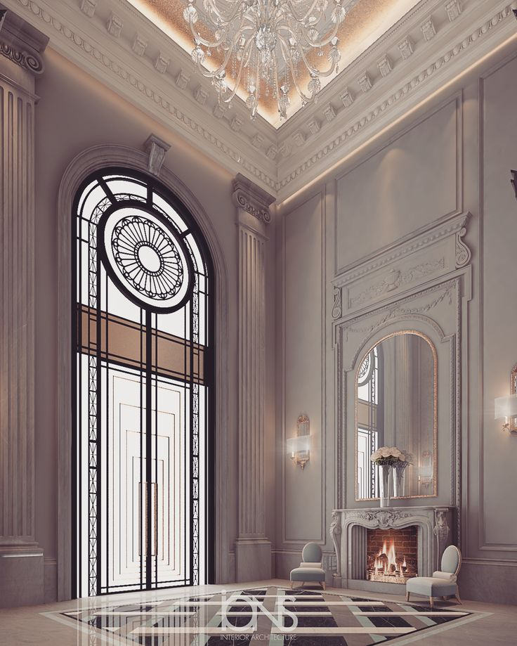 Grand lobby design - private palace