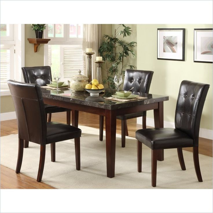 buy inexpensive furniture online homelegance decatur 5 dining table set in espresso 11868 | c30d6ca58108292c3faa11b679fde2ba furniture online discount furniture