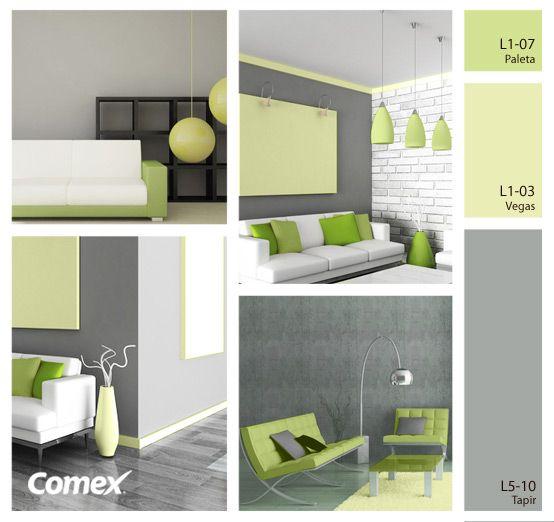 Colores sutiles pero con gran impacto para tu decoración. ¡Renueva tus espacios con un poco de color! #Comex #México #decoración #interiorismo #decoracion #deco #design #interior #interiorismo