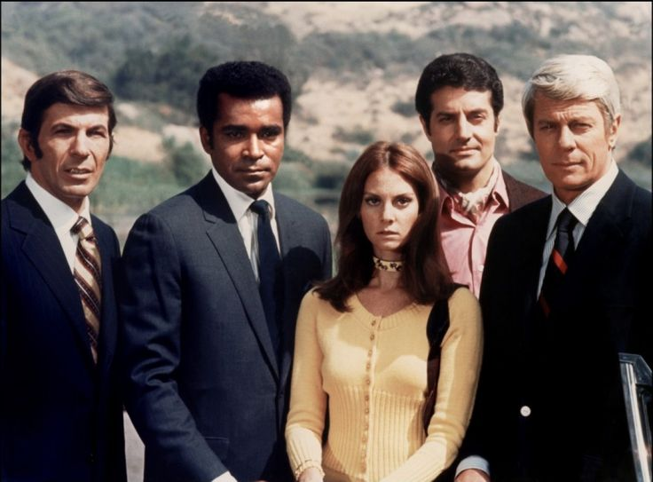 Sixties | Leonard Nimoy, Greg Morris, Lesley Ann Warren, Peter Lupus and Peter Graves from Mission Impossible, 1966-73