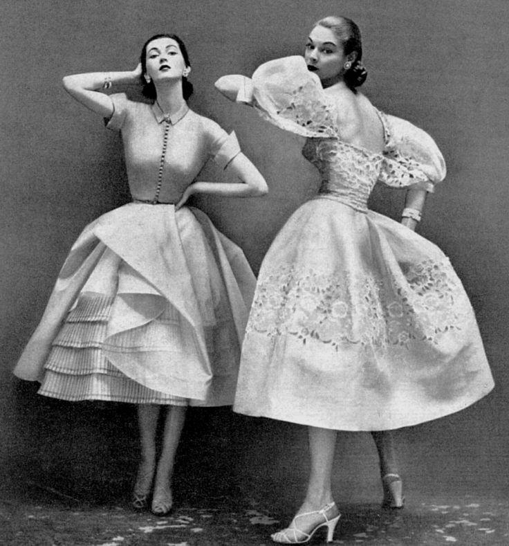 Dovima & Jean Patchett 1950's