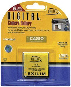 Digital Concepts CB40 Rechargeable Digital Camera Battery Equivalent to Casio NP-40 $0.16