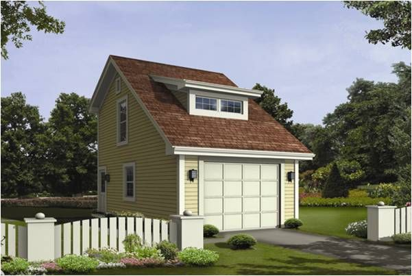 Garage with apartment plans the image of the nestor for 1 car garage apartment plans