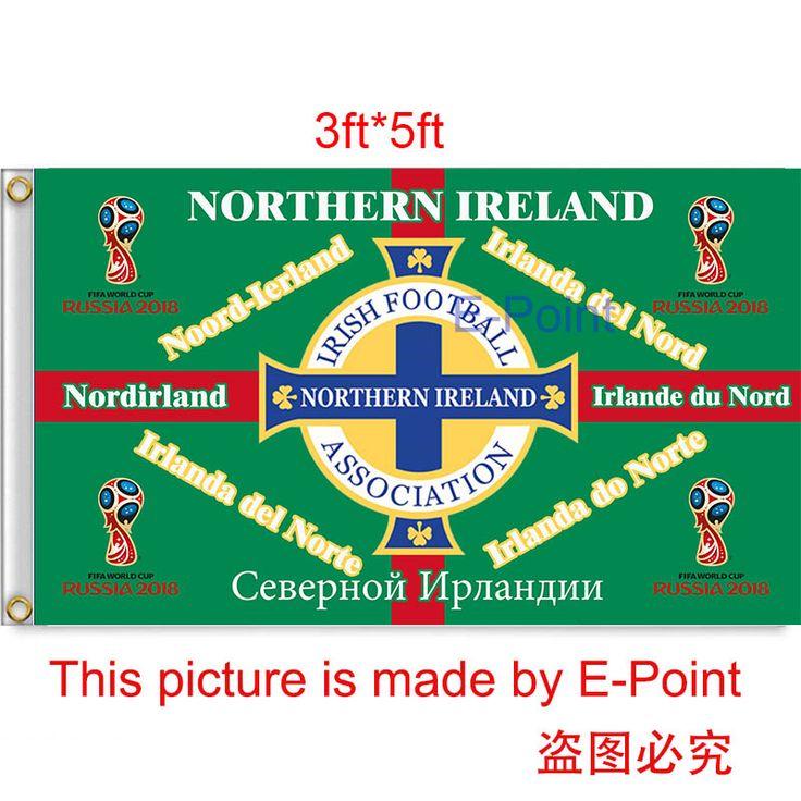 2018 Россия Чм-Северной Ирландии висят украшения Флаг 3ft * 5ft (150 см * 90 см)