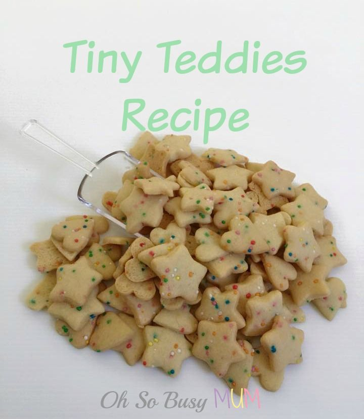 Make your own Tiny Teddies using this easy tiny teddy recipe. Use any shapes or flavours like chocolate, 100's & 1000's or honey.