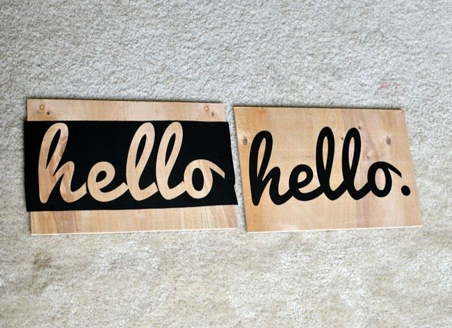 DIY hexagon hello sign | Sisters, What!