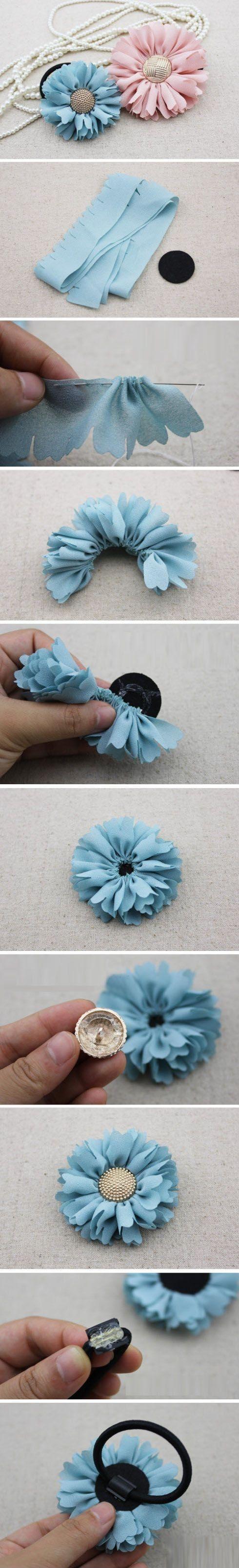 fabriquer elastique cheveux tuto diy