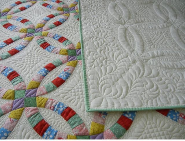 62 best WEDDING RING QUILTS images on Pinterest Double wedding
