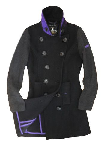 Superdry Womens Bridge Coat - Winter Wool -Black/Charcoal Mix – £134.99 Perfect for work & smart casual wear.  We ship to Europe just £10.95 ROI £7.95 Free UK!