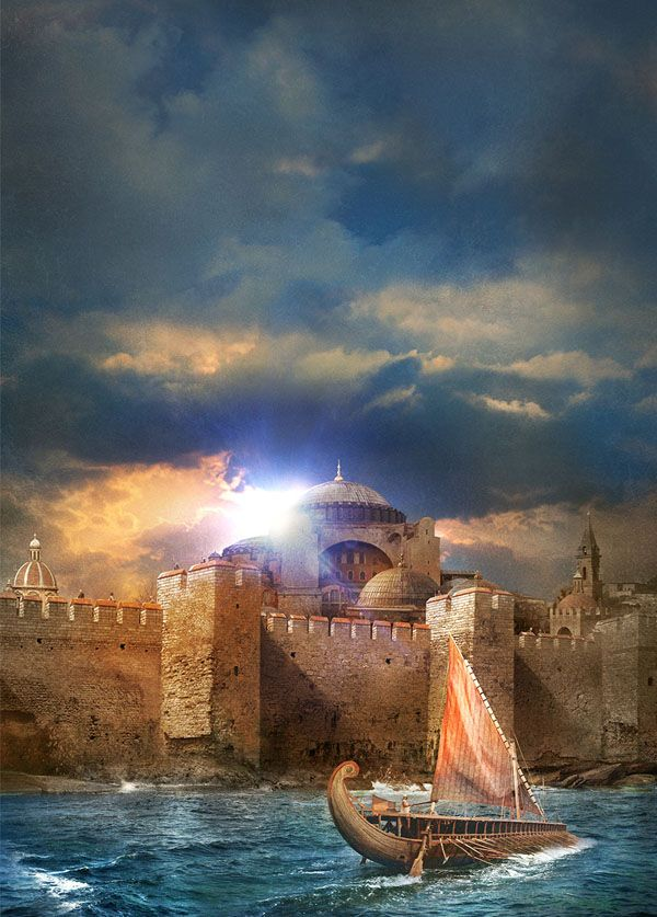 The Walls of Byzantium by Alejandro Colucci