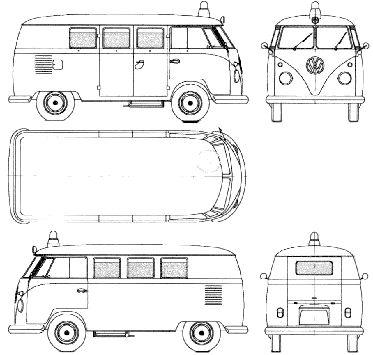 Volkswagen Microbus 1960 1963 Model Sheet Blue Print