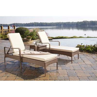 Key Biscayne 3 Piece Chaise Lounge Set with Cushion Fabric: Canvas Vellum - http://delanico.com/chaise-lounges/key-biscayne-3-piece-chaise-lounge-set-with-cushion-fabric-canvas-vellum-590614018/