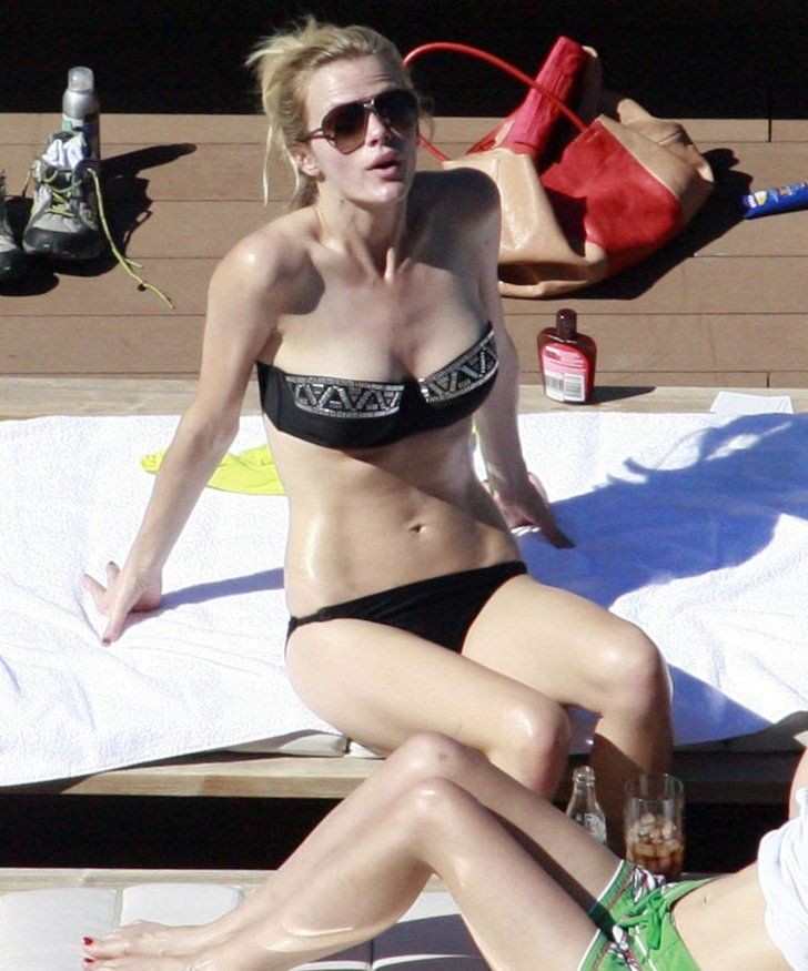 Pin for Later: The Ultimate Celebrity Bikini Gallery  Brooklyn Decker relaxed poolside while promoting Battleship in Sydney in April 2012.