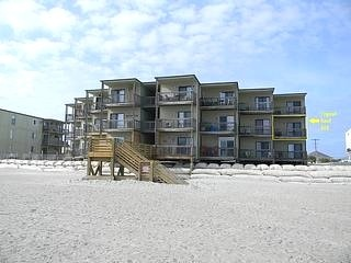 Building 1 from Beach - Topsail Reef 202 - North Topsail Beach - rentals  675 wk perfect dates avail!!!!